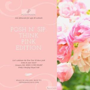 💞Posh N' Sip: Think Pink Edition